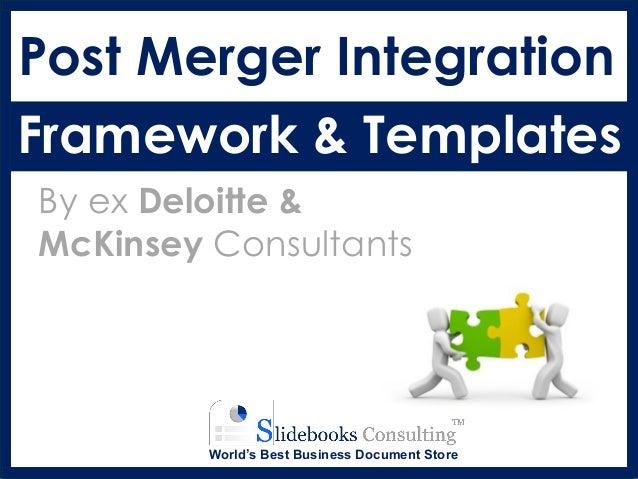 Post Merger Integration Framework | By ex-McKinsey Consultants