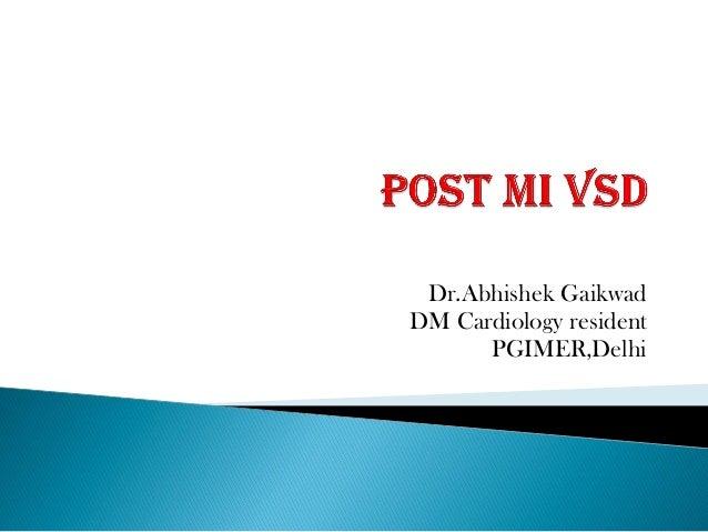Dr.Abhishek Gaikwad DM Cardiology resident PGIMER,Delhi