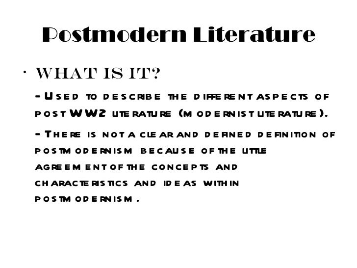 essay about postmodernism A similar ambivalence towards postmodernism is evident in alvesson's more abstract and theoretical introduction here one has a thorough review of post-modernism as.