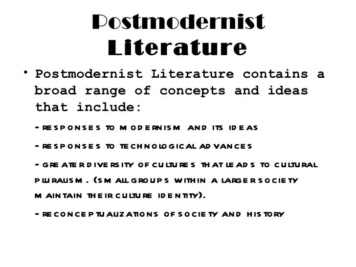 elements of postmodern literature