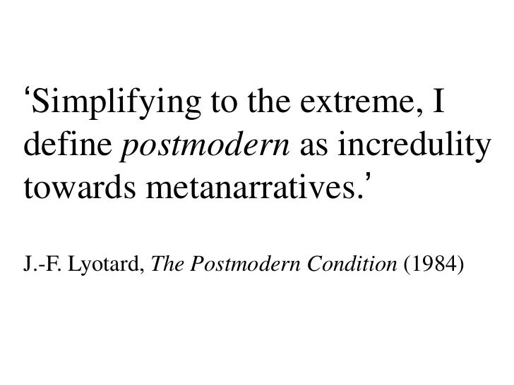 the condition of postmodernity essay The beginning of modernity in europe sociology essay disclaimer: this essay has been submitted by a student smart, b (1992) modern conditions, postmodern.