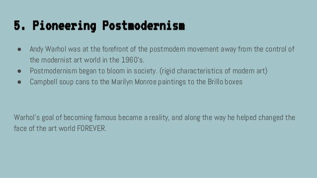 10 Facts on Postmodernism
