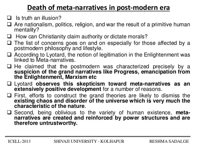 research papers post modern literature Postmodernism broadly refers to a socio-cultural and literary theory, and   modernist and postmodernist works are also fragmented and do not.