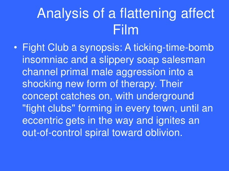 an analysis of the archetypal paradigm in the film fight club Start studying cinema 101 learn  see the diagram at the right of syd field's famous structural paradigm most films are  like a stereo in a club.