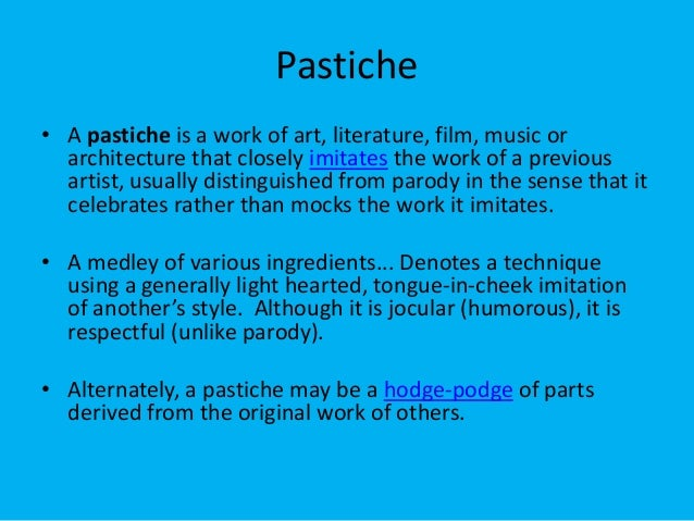 Pastiche Postmodernism
