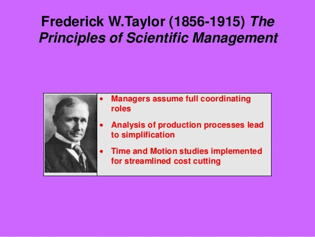 how todays managers use scientific management Frederick winslow taylor, the acknowledged 'father' of scientific management was a pre classical contributor taylor was the founder of a system that stated the relationship of workers and managers to the realm of new science/technology.