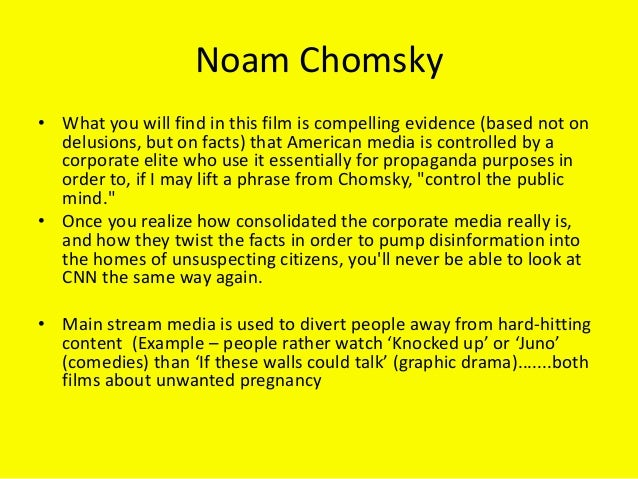 the use of noam chomskys propaganda Propaganda is to a democracy what the bludgeon is  by noam chomsky from my large collection of friendship quotes.