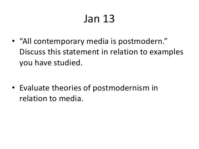 postmodern past paper questions 8