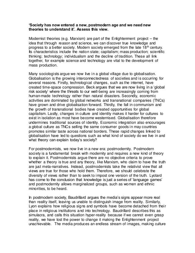 what is modernity essay A custom written essay example on importance of education in the modern world.