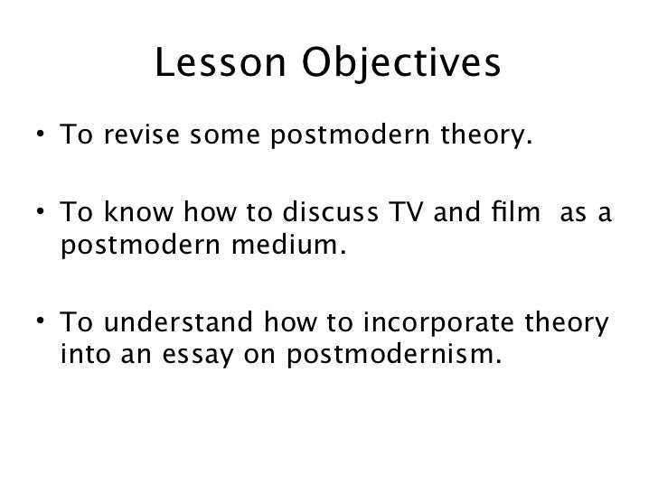 post modern perspective essay Postmodernism - essay perspective also separated the viewer of the source: surfiction: a postmodern position, in critifiction: postmodern essays.