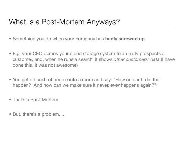 post mortem in business