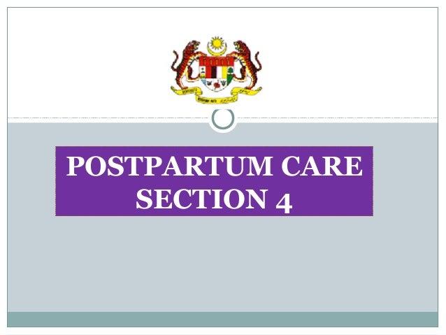 POSTPARTUM CARE SECTION 4