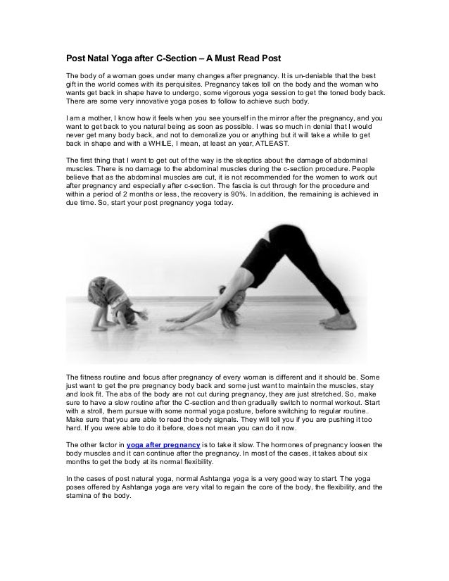 Post Natal Yoga After C Section A Must Read Post