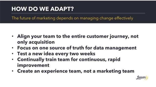 The Future of Marketing - Steps to Building Experiences of the Future