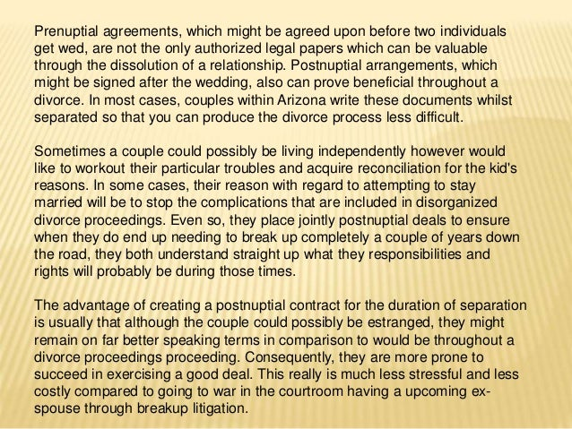 Postnuptial Agreement Can Safeguard Interests In The Course Of Breakup