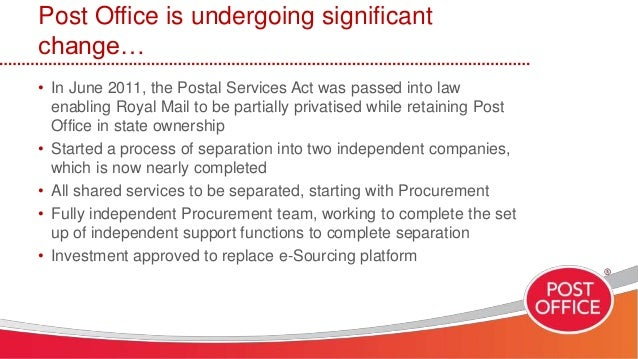 Bravoconnect 2014 post office on procurement savings identification - Post office tracking mail ...