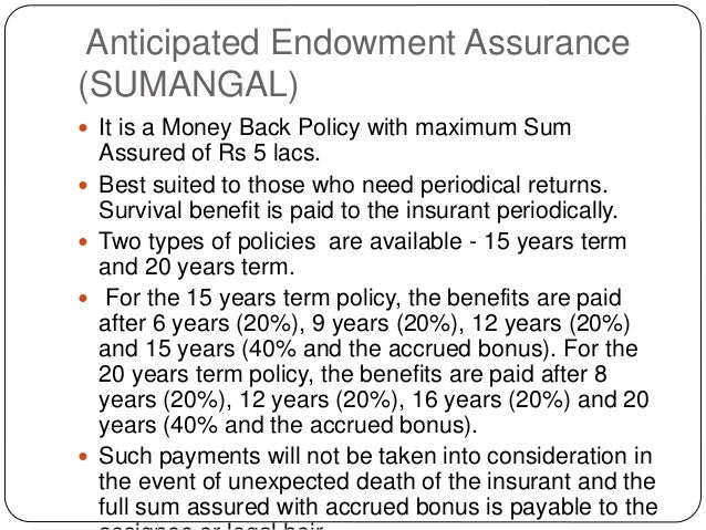 Image result for anticipated endowment assurance