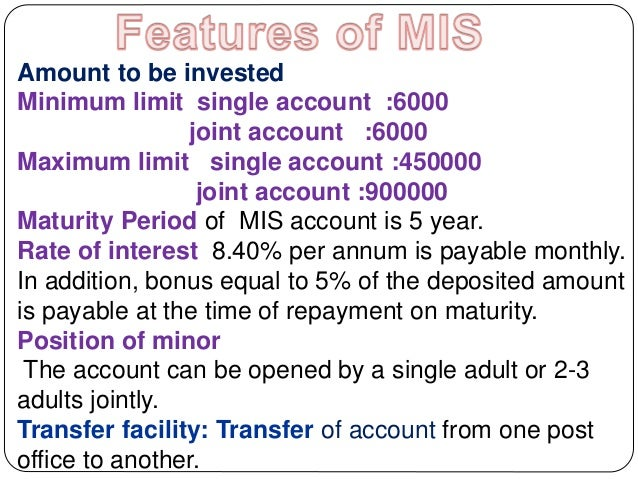 Post office ppt - Post office joint account ...
