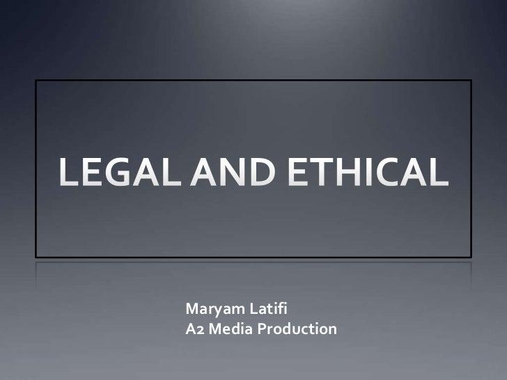 Maryam LatifiA2 Media Production