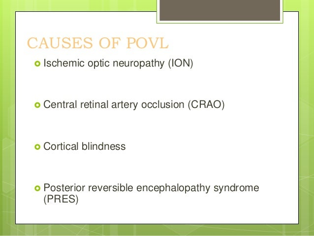 ISCHEMIC OPTIC NEUROPATHY(ION) Irreversible painless loss of vision Spontaneously without any warning signs Usually see...