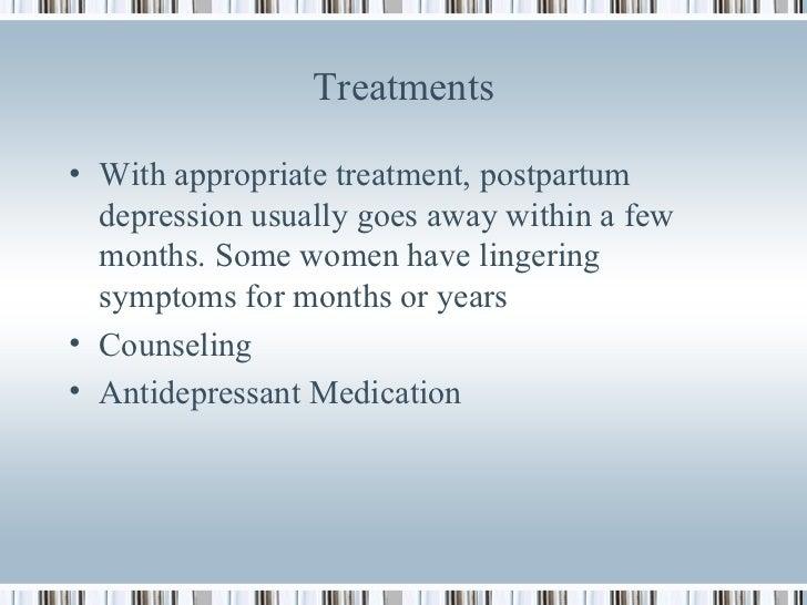 Treatment for postnatal depression