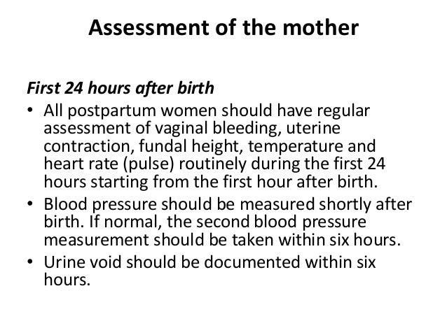 Postpartum examination