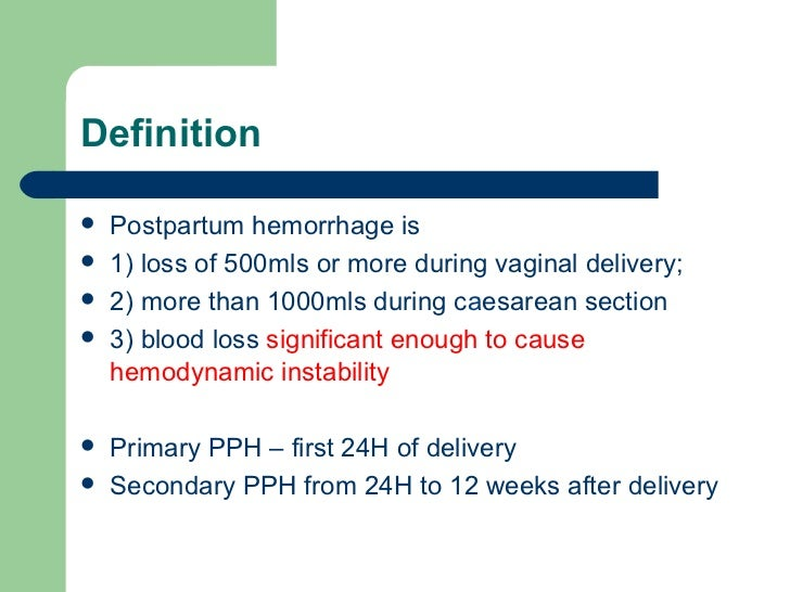 understanding the causes and treatment of postpartum hemorrhage pph Postpartum hemorrhage: preventing tragic maternal deaths due to postpartum hemorrhage (pph) interventions for prevention and treatment of pph.
