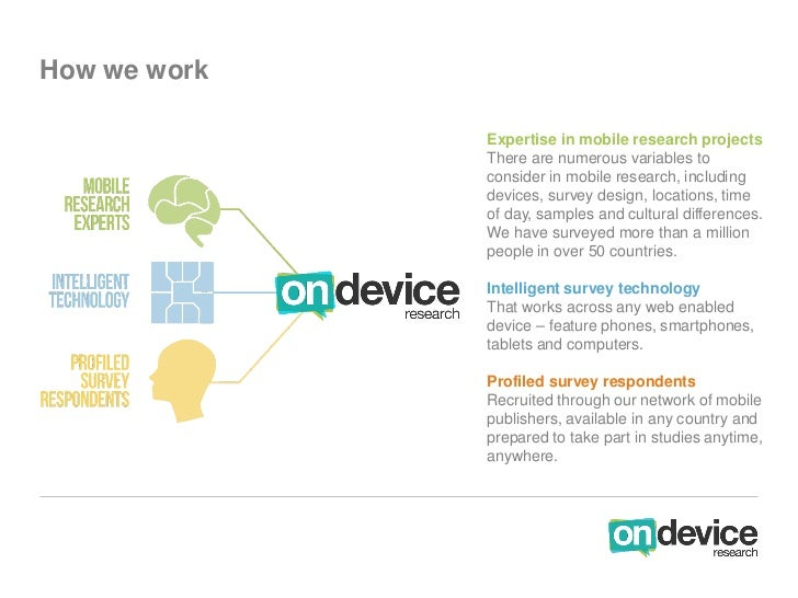How we work              Expertise in mobile research projects              There are numerous variables to              c...