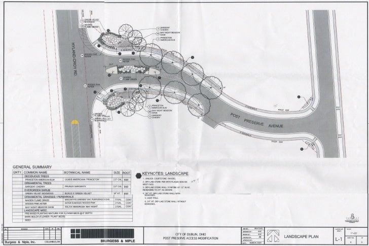 Post Preserve Entrance Landscape Plan