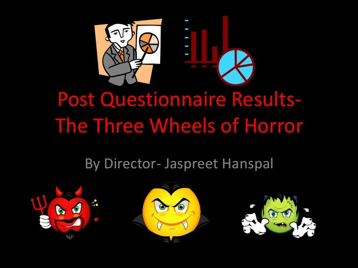 Post Questionnaire Results-The Three Wheels of Horror   By Director- Jaspreet Hanspal