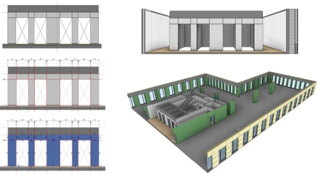 Modeling building interior and facades systems in BIM