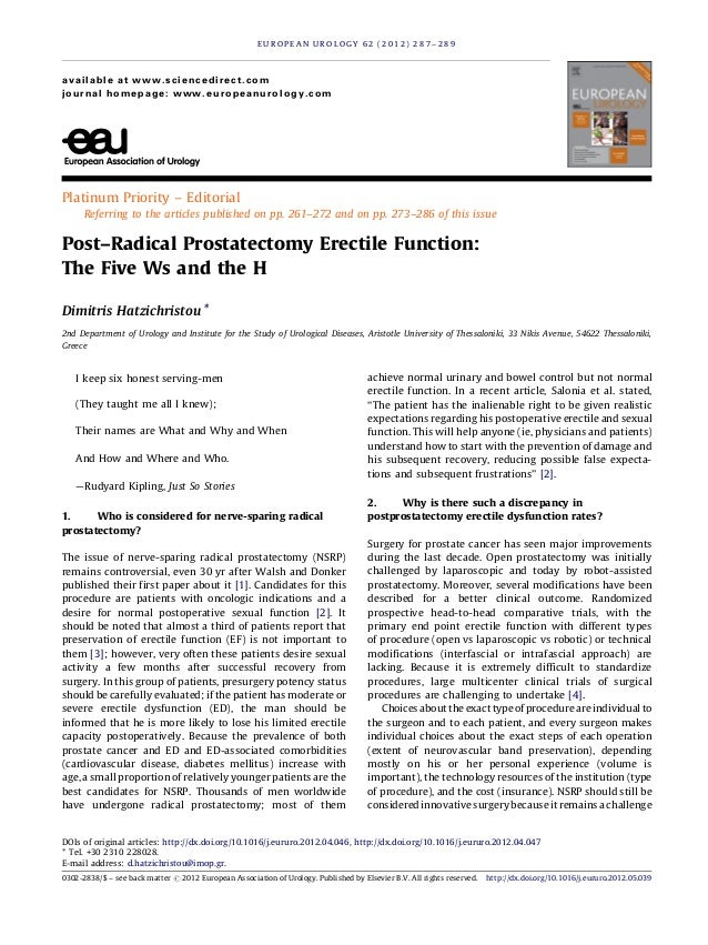Platinum Priority – Editorial Referring to the articles published on pp. 261–272 and on pp. 273–286 of this issue Post–Rad...