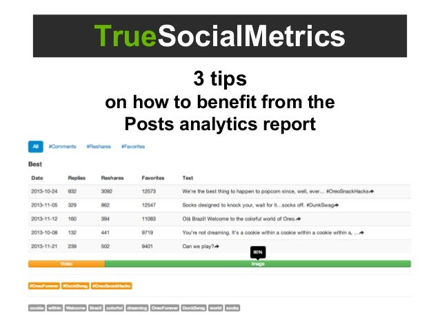 TrueSocialMetrics 3 tips on how to benefit from the Posts analytics report