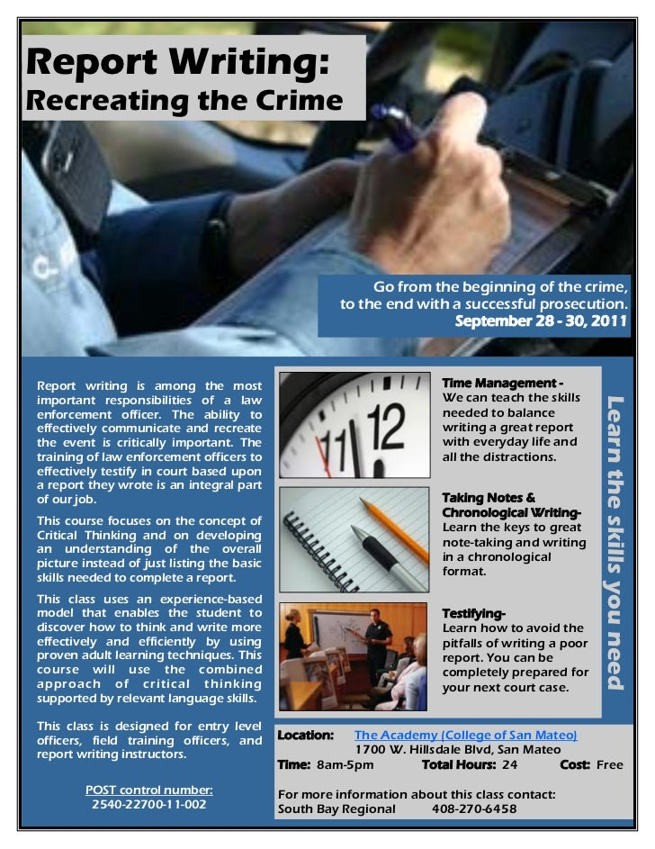 police report writing training Policeone academy report writing: policeone academy field training programs: policeone academy writing better police reports: virtual academy.