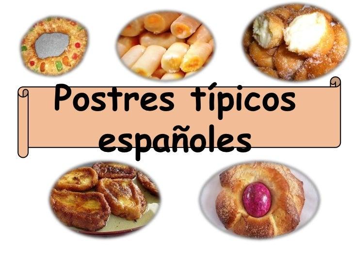 Postres típicos  españoles