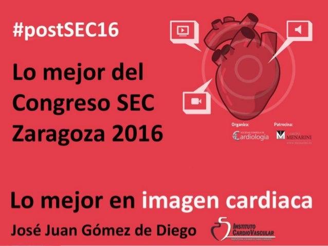 Lo mejor del Congreso SEC Zaragoza 2016 Imagen Cardiaca