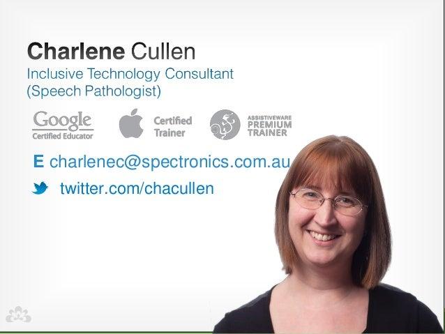 twitter.com/chacullen  Echarlenec@spectronics.com.au