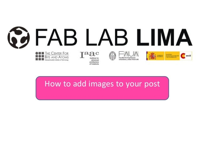 How to add images to your post
