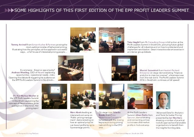 | European Pricing Platform | Post Summit Report, Stockholm 201698 Toke Høgild from PA Consulting Group in full action at ...
