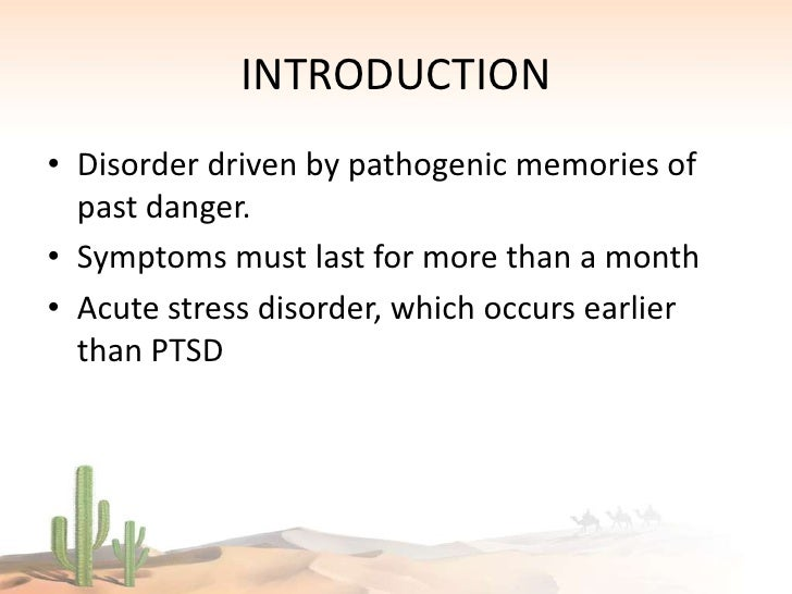 the study of post traumatic stress disorder Learn more about complex post-traumatic stress disorder social a study of depressed men and women found that those with histories of childhood traumatic loss or.