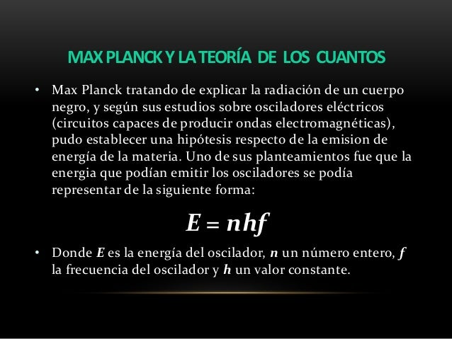 Resultado de imagen de LOs cuantos de Planck