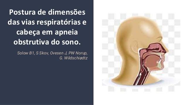 Postura de dimens�es das vias respirat�rias e cabe�a em apneia obstrutiva do sono. Solow B1, S Skov, Ovesen J, PW Norup, G...