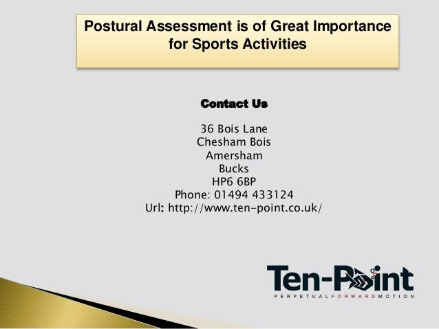 Postural Assessment Is Of Great Importance For Sports