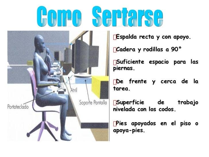 posturas y ergonomia en la oficina