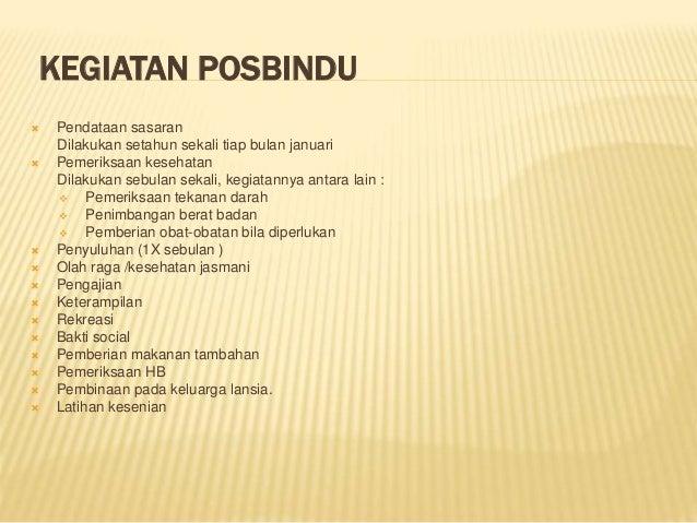 SOP Posyandu Lansia