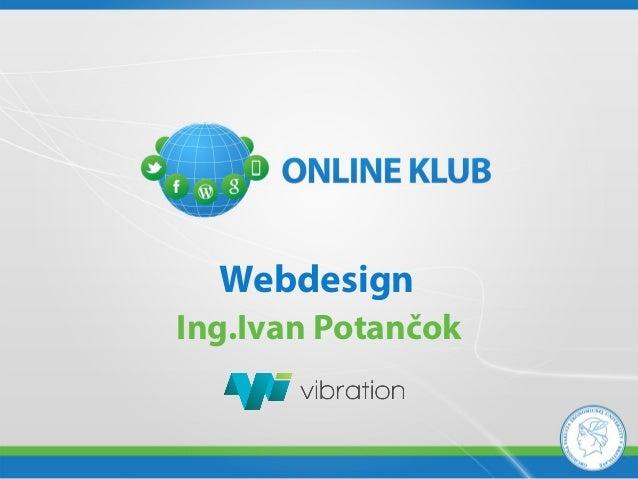 WebdesignIng.Ivan Potančok