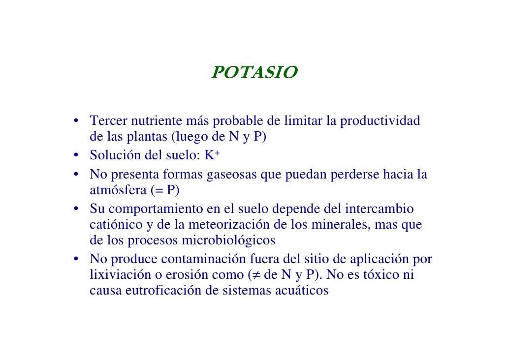Potasio n gral for Potasio para plantas