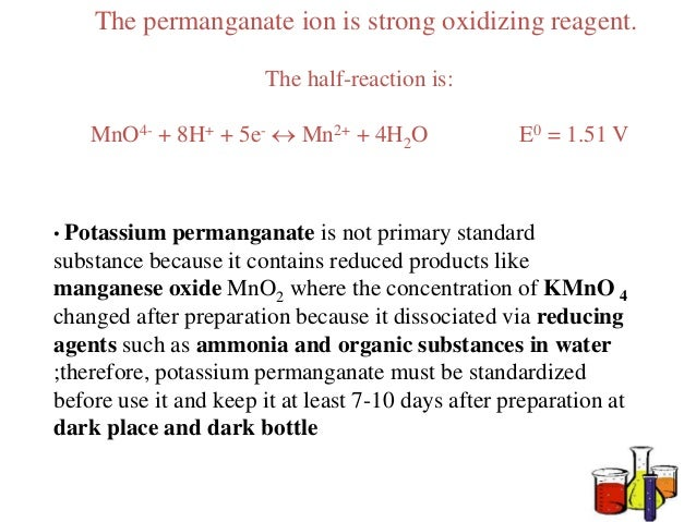 standardisation of potassium permanganate