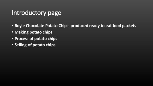 Starting a Potato Chips Production Company – Sample Business Plan Template