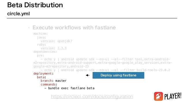 Fastlane for Androidによる継続的デリバリー